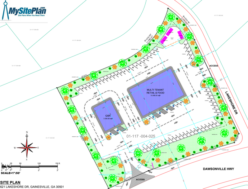 Detailed Site Plan - Residential / Commercial