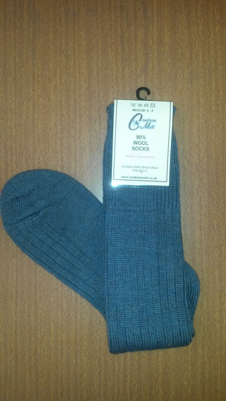 Wool Socks Blue Lovat