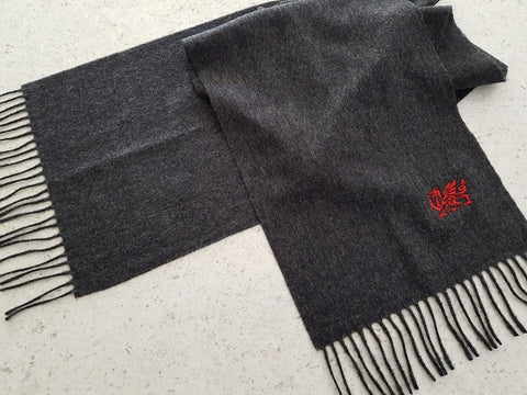 Dragon Scarf Charcoal