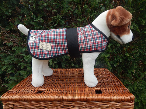 Gelert Check Dog Coat