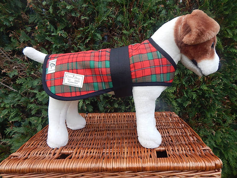 Red Tartan Dog Coat