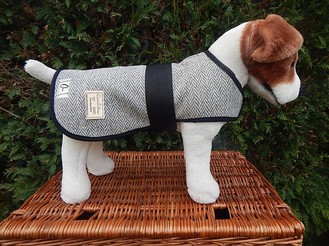 Herringbone Tweed Dog Coat