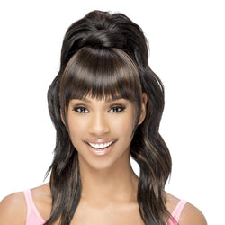 Vivica Fox Synthetic Bang N Pony Loose Body Curl BP- Yuna 21""