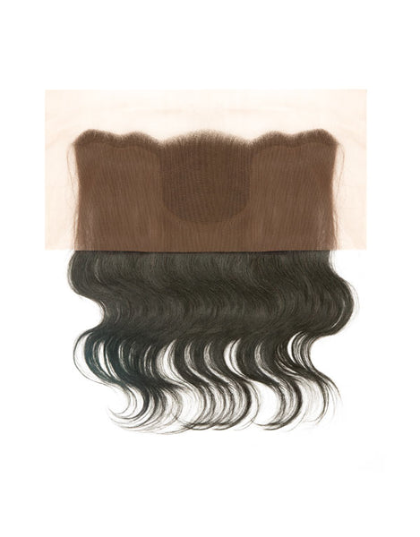"Janet Natural Temple 100% Natural Virgin Remy Human Hair 13"" X 4"" Lace Frontal Closure Body Wave 16"""