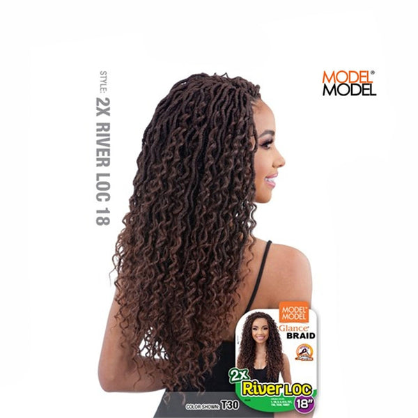 Model Model Glance Synthetic 2X River Loc Braid 18""