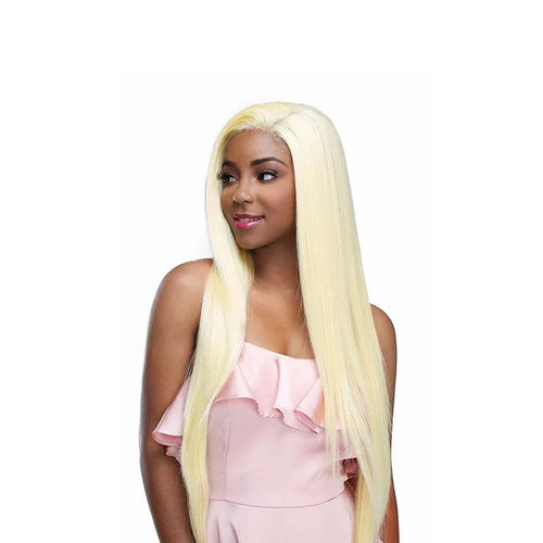 Human hair blend whole lace wig