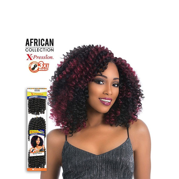 Sensationnel African Collection Synthetic 3X Pre-Looped Bounced Twist 8""