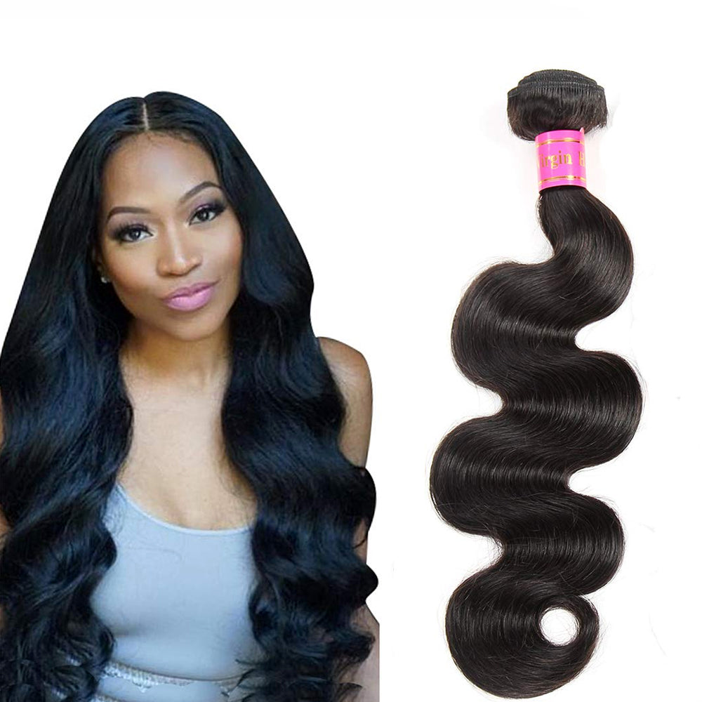 Laflare 100% Indian Virgin Unprocessed 10A Human Hair Body Wave 18