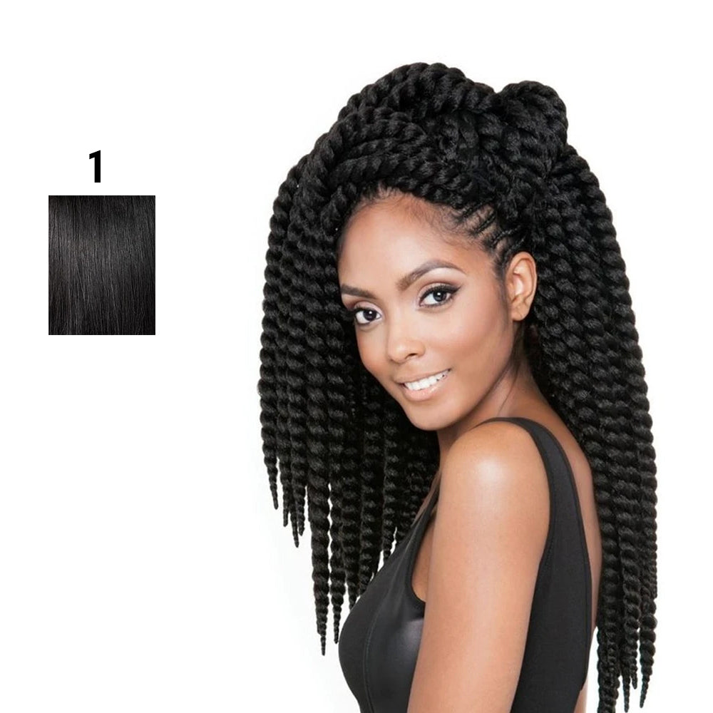 Afri Naptural Synthetic Hair Braid 2X Senegal Bantu Twist 12