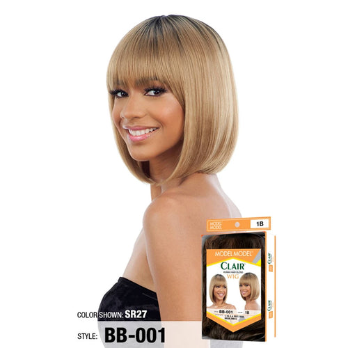 Model Model Clair Human Hair Blend Wig BB-001