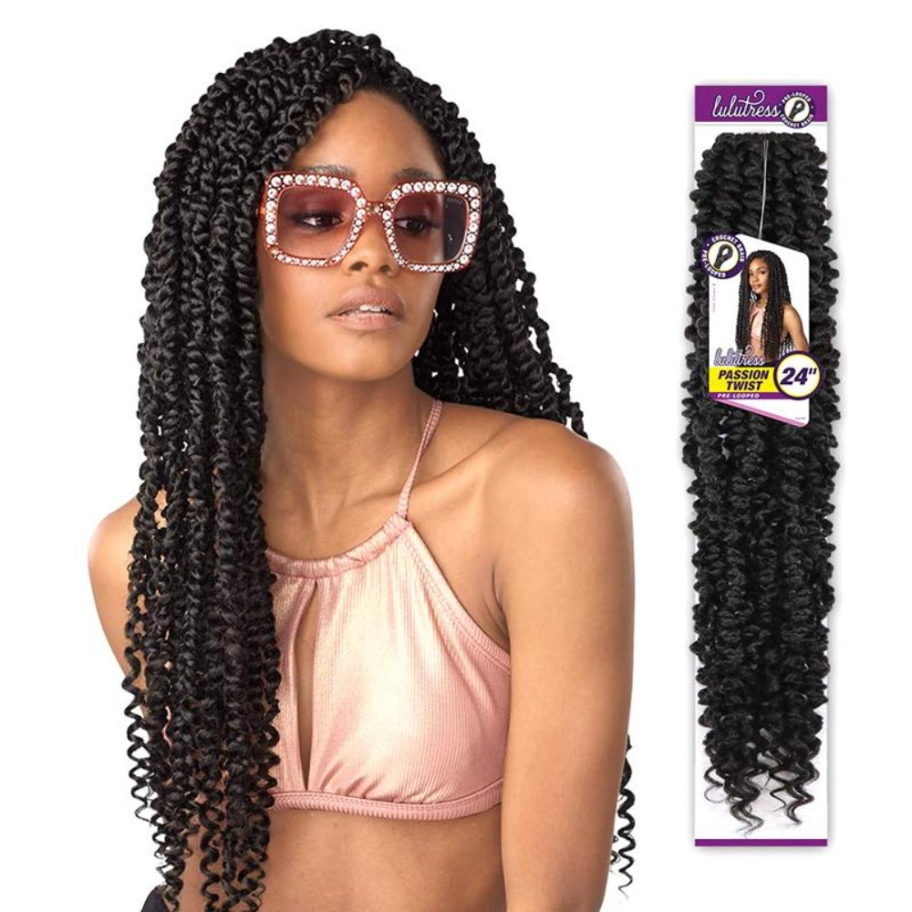 Sensationnel Synthetic Hair Lulutress Pre-Looped Passion Twist Braid 24