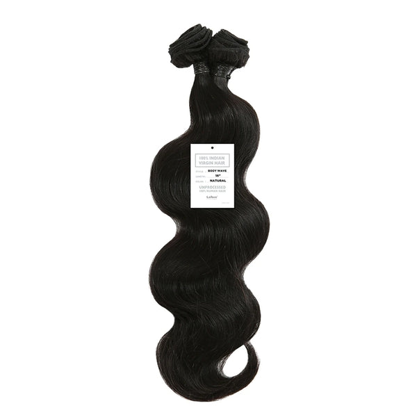 Laflare 100% Indian Virgin Unprocessed 10A Human Hair Body Wave 18""