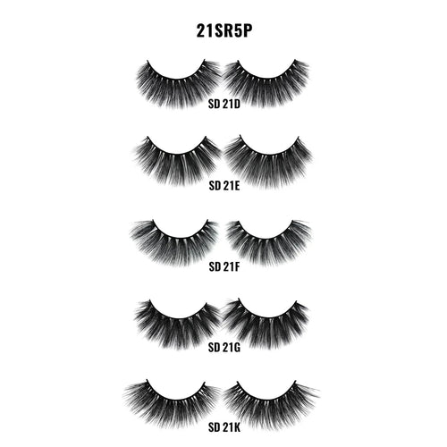 Laflare 3D Faux Mink 100% Premium Lashes Value pack 5pairs