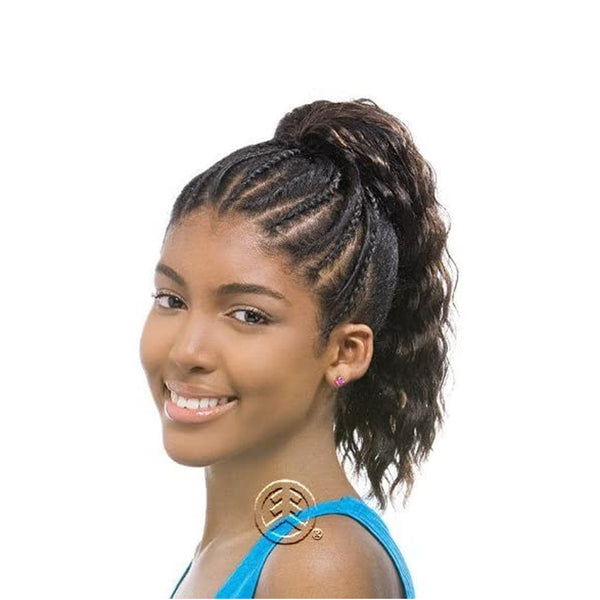 Model Model GLANCE Kids Drawstring Synthetic Ponytail Superteen