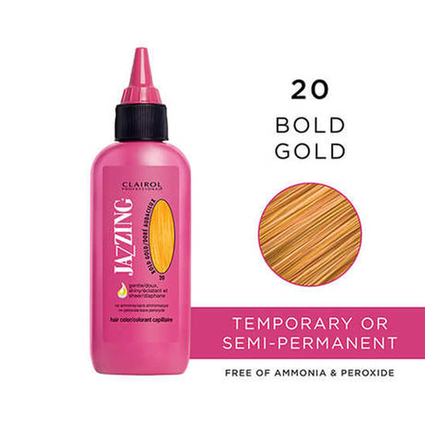 Clairol Professional Jazzing Temporary Hair Color #20 Bold Gold