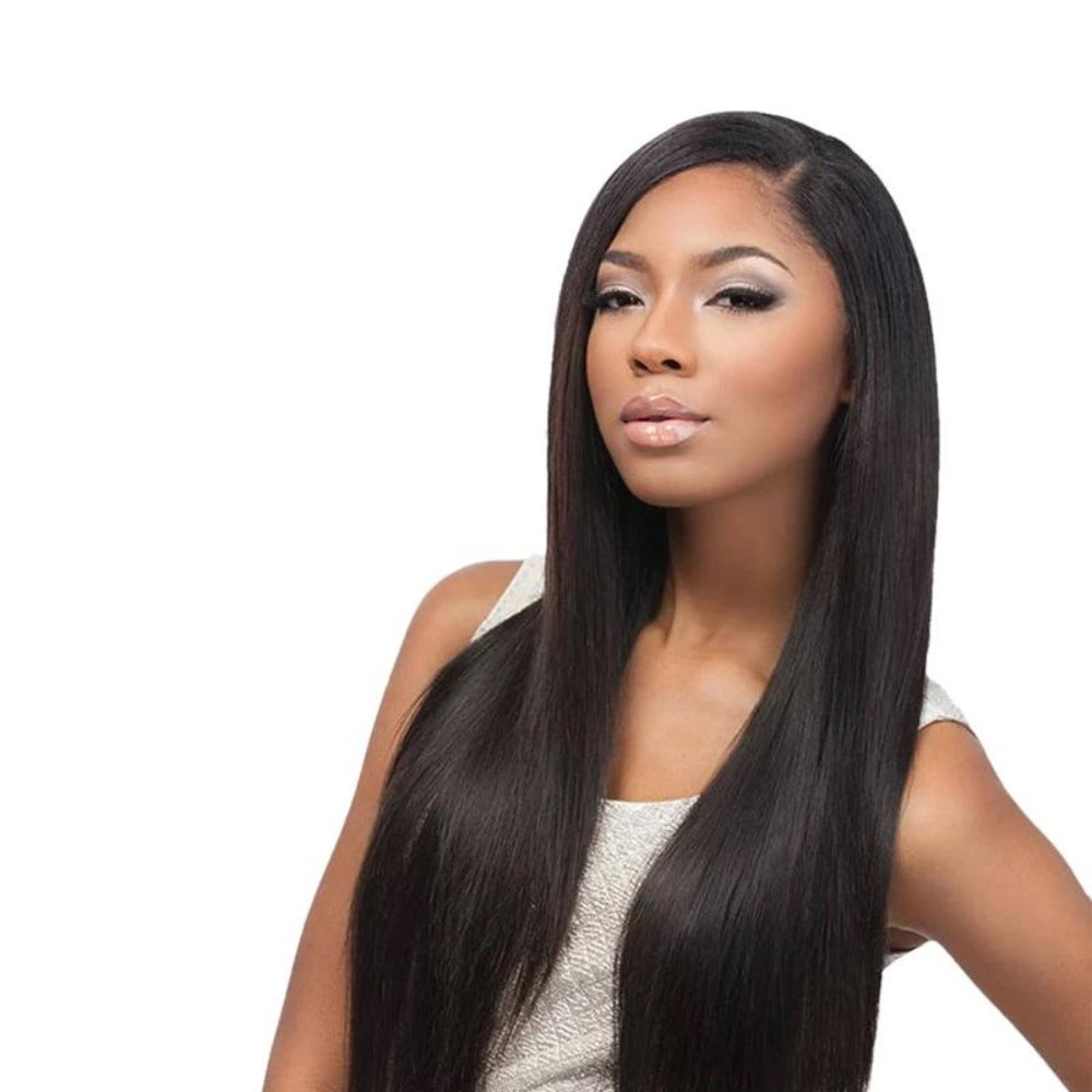 Sensationnel Bare & Natural 7A Unprocessed Virgin Hair 4x4 Lace Closure Bundle Deal Straight 16