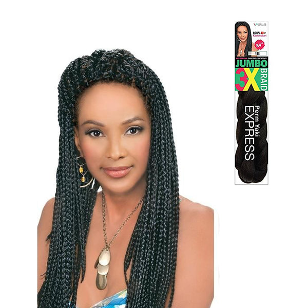 Vivica Fox Synthetic Hair 100% Kanekelon 3X Jumbo Braid Express 84""