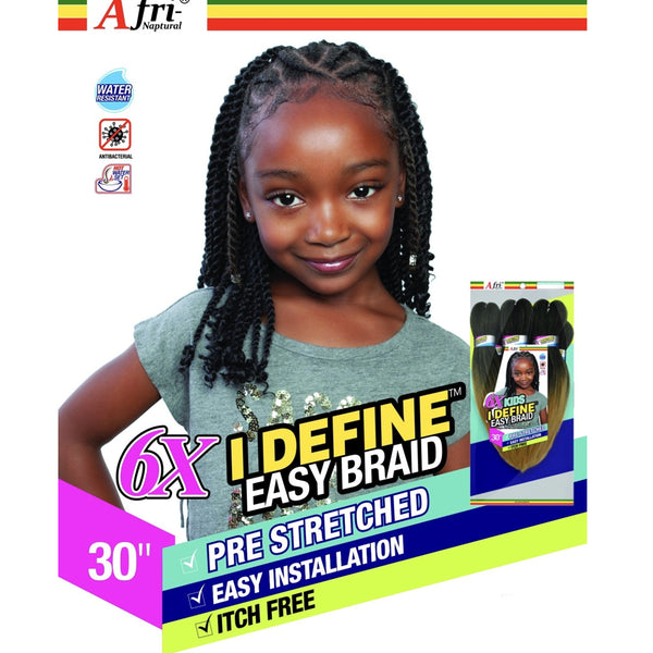 Mane Concept AFRI Naptural Synthetic 6X I DEFINE Kids Easy Braid 30""