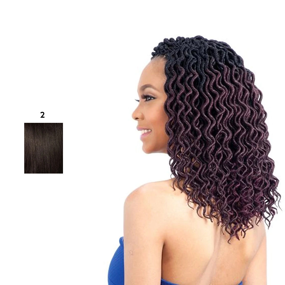 Model Model GLANCE Synthetic Braid Faux Loc Curly 10