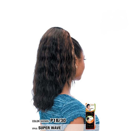 Model Model Glance Synthetic Drawstring Ponytail Super Wave