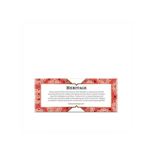 Nubian Heritage Coconut and Papaya Bar Soap