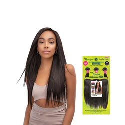 "Janet 100% Unprocessed Natural Virgin Remy Human Hair Bundle Straight 18""20""22"" with 13'x4"" Temple Lace Frontal"
