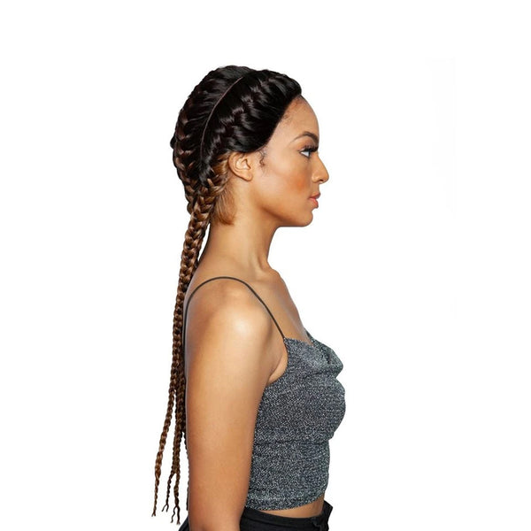 Mane Concept Synthetic Red Carpet Ghana Braid Lace Wig Athena