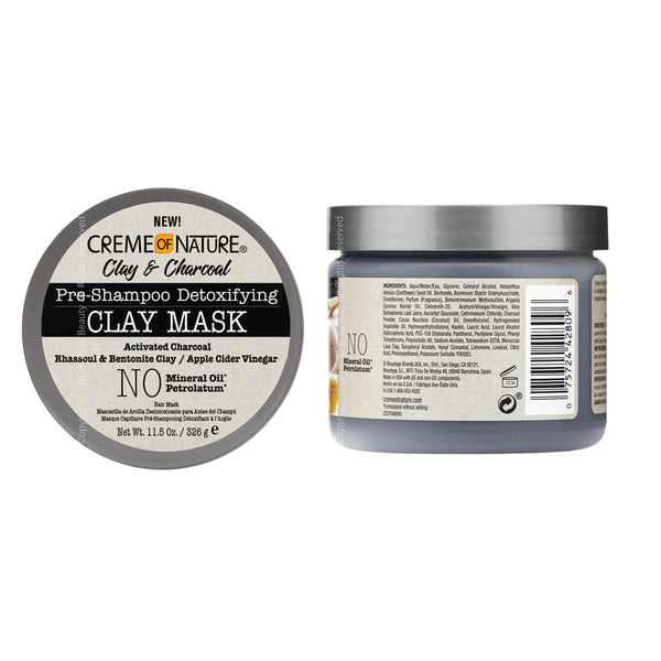 Creme of Nature Clay & Charcoal Pre-Shampoo Detoxifying Clay Mask
