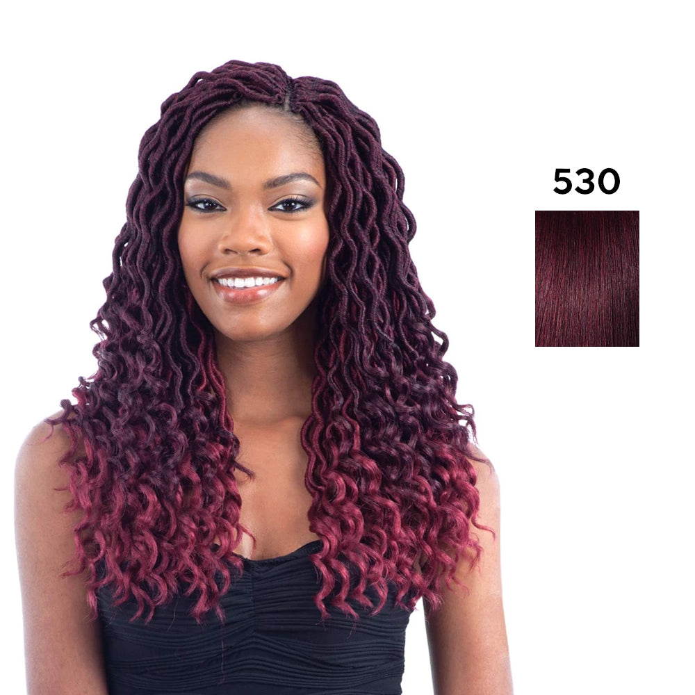 Model Model Glance Synthetic Crochet Braid Gorgeous Goddess Loc 14