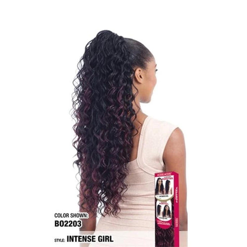 Model Model Equal Synthetic Drawstring Ponytail Intense Girl