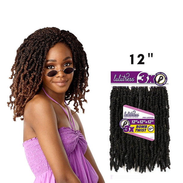 Sensationnel  Lulutress Synthetic Crochet Braid 3X Bomb Twist 12""