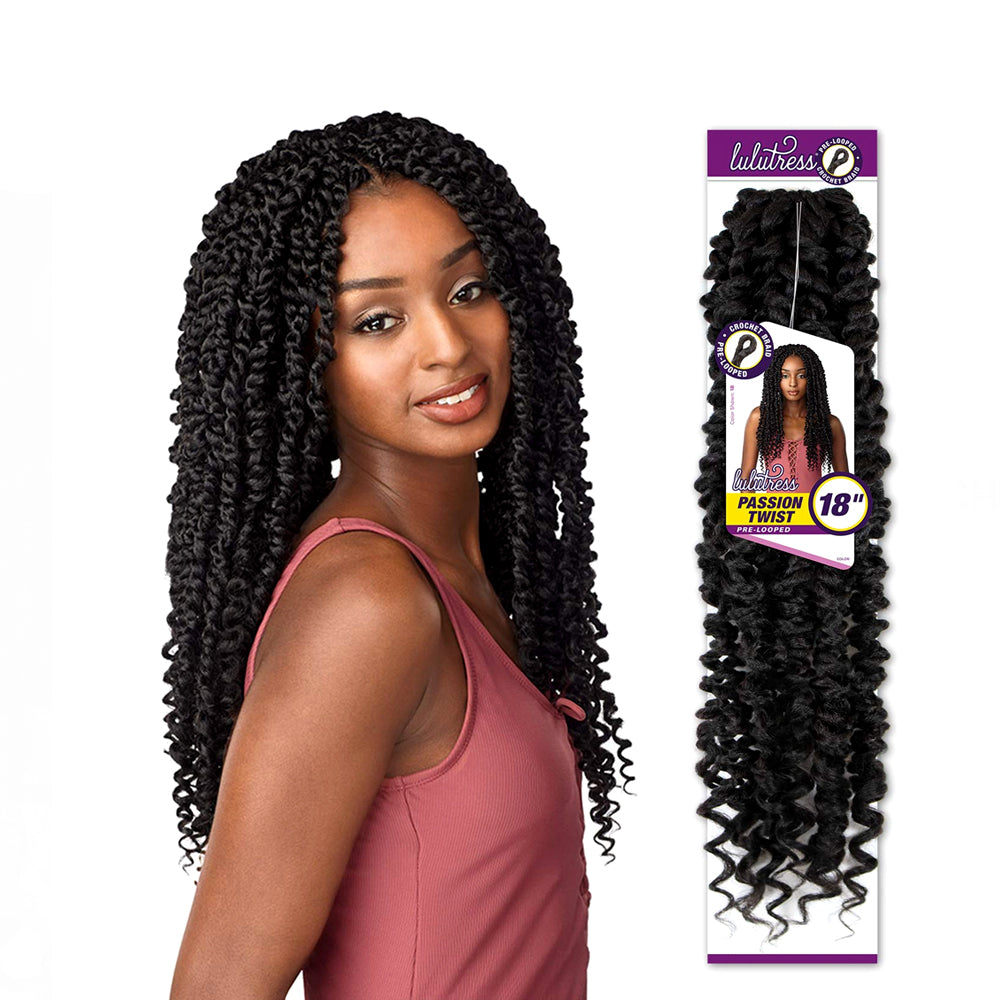 Sensationnel Synthetic Hair Lulutress Pre-Looped Passion Twist Braid 18