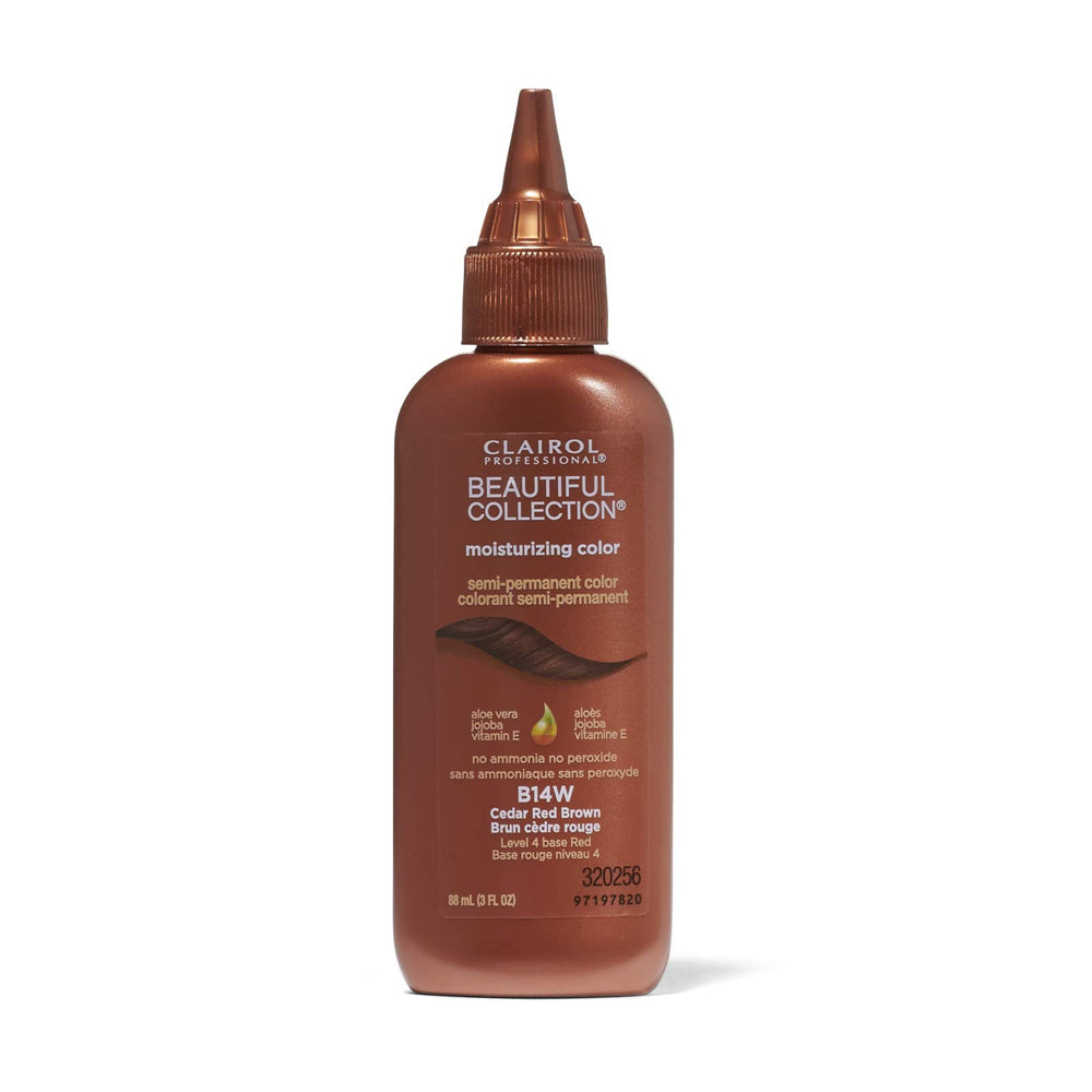 Clairol Professional Beautiful Collection Semi-Permanent Hair Color Cedar Red Brown B14W