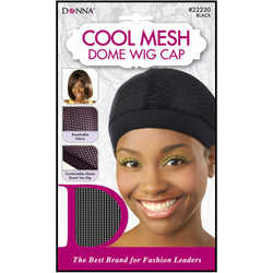 Donna Cool Mesh Dome Wig Cap Black