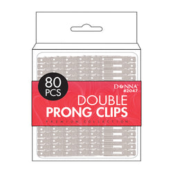 Donna Premium Collection Double Prong Clips 80pcs