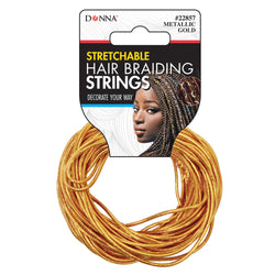 Donna Stretchable Hair Braiding Strings - Gold