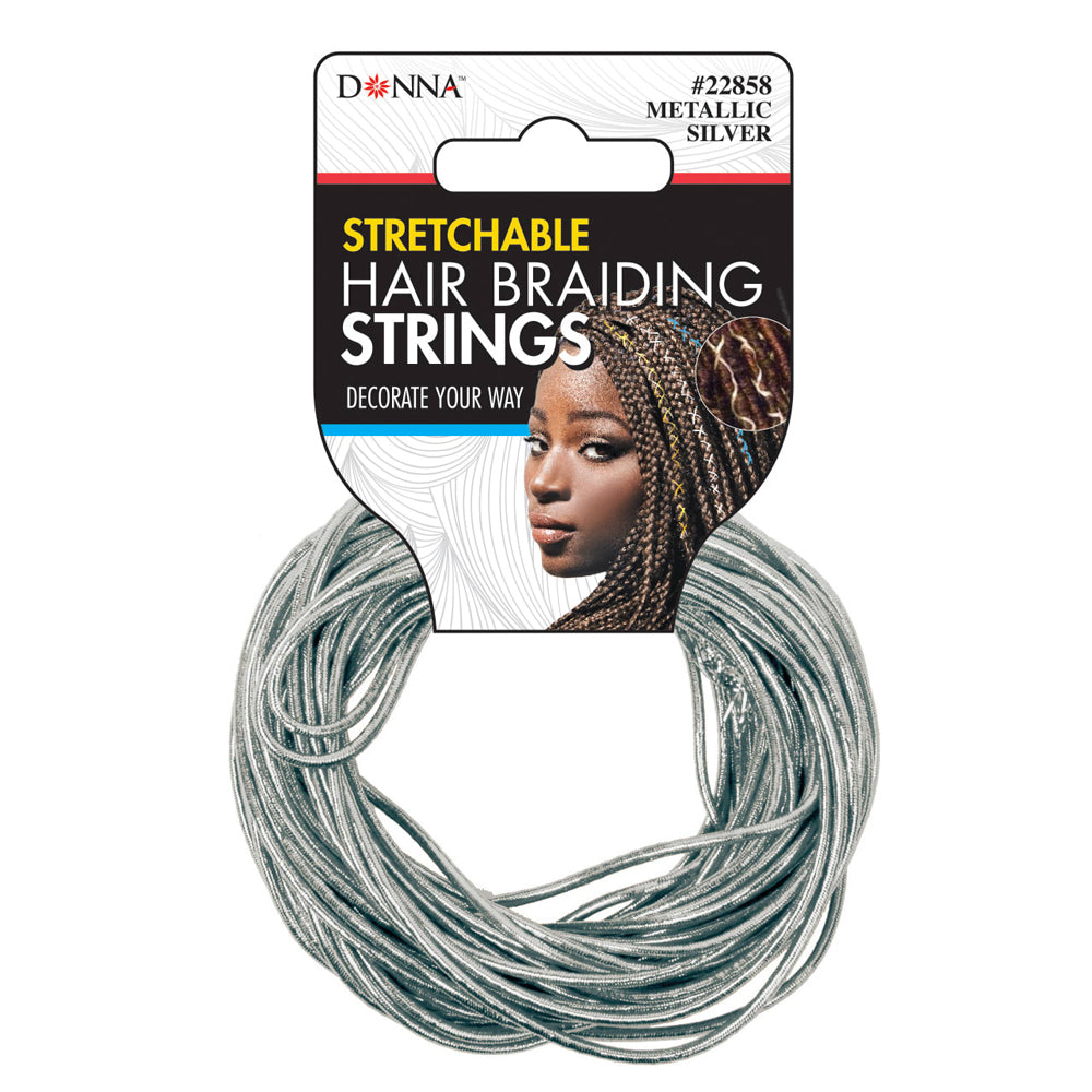 Donna Stretchable Hair Braiding Strings - Silver