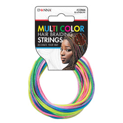 Donna Stretchable Hair Braiding Strings - Rainbow