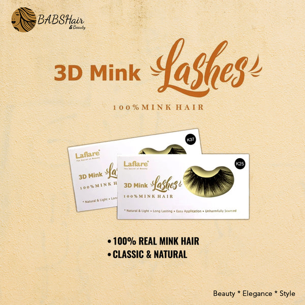 Laflare 3D Real 100% Mink Lashes