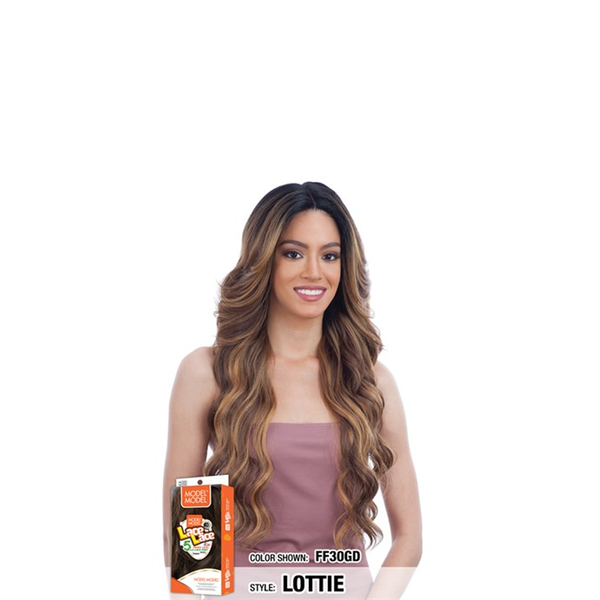 Model Model Synthetic Lace to Lace Wig Lottie