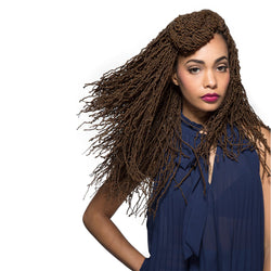 Bobbi Boss Synthetic Crochet Braid African Roots Micro Locs 18""