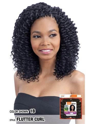 Model Model GLANCE Synthetic Braid 2X Wand Curl Flutter Curl