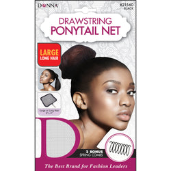 Donna Drawstring Ponytail Net Large