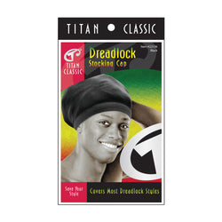 Titan Classic Dreadlock Stocking Cap - Black