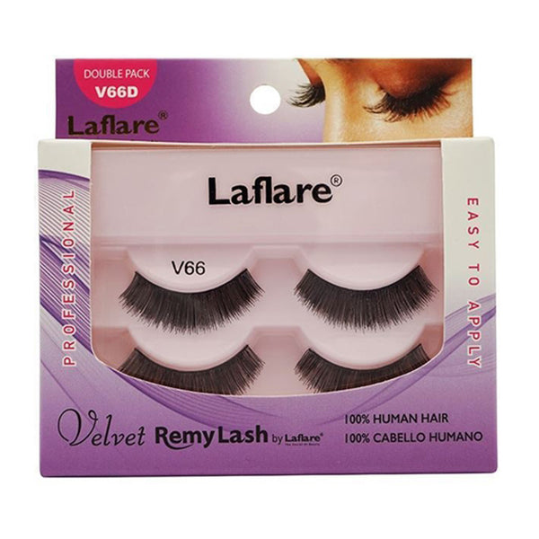 Laflare Eyelashes100% Human Hair Velvet Remy Lashes Double Pack
