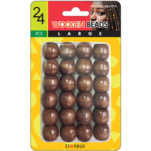 Donna Wooden Beads Large 24pcs