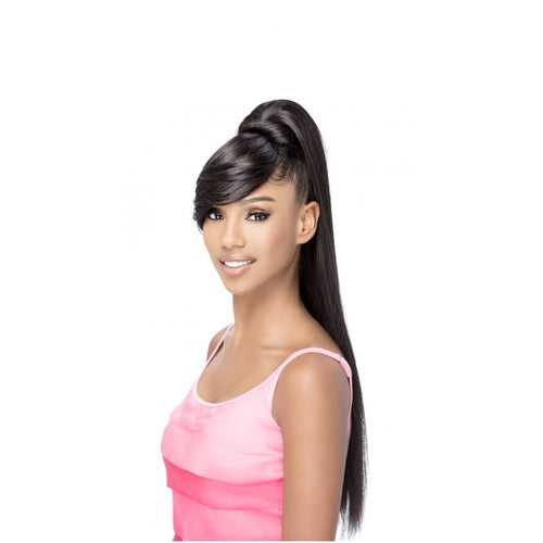 Vivica Fox Synthetic Bang N Pony Layered Straight BP- Fendy