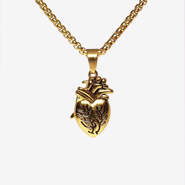 ANATOMICAL HEART NECKLACE GOLD Necklaces Adorn Lab