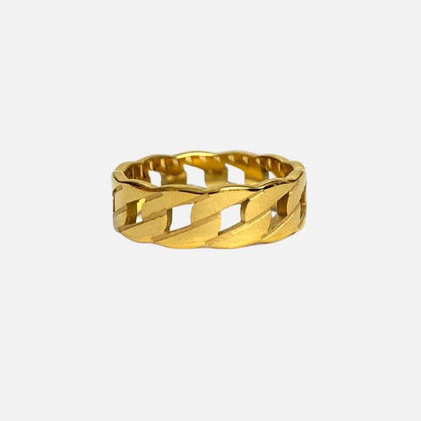 Cuban Ring Gold Rings Adorn Lab