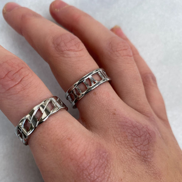 Roman Numeral Ring Silver Rings Adorn Lab